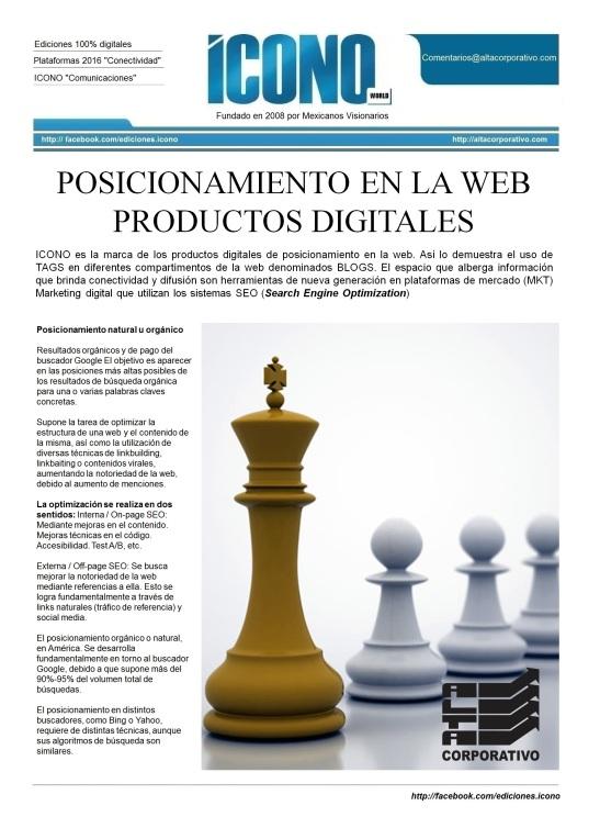 Productos Digitales de Posicionamiento 2015